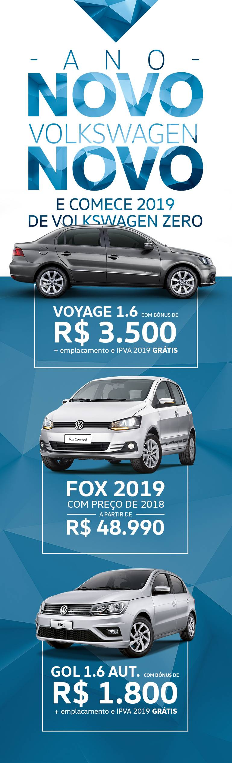 Ano Novo, VW Novo