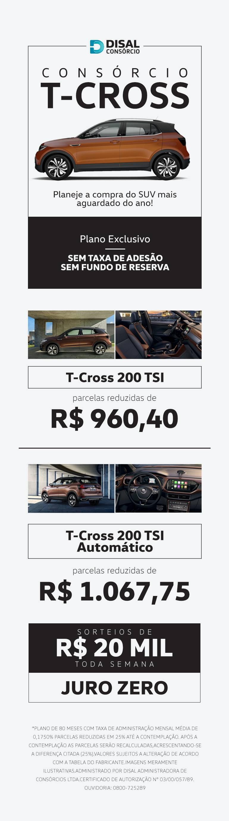 Consórcio T-Cross