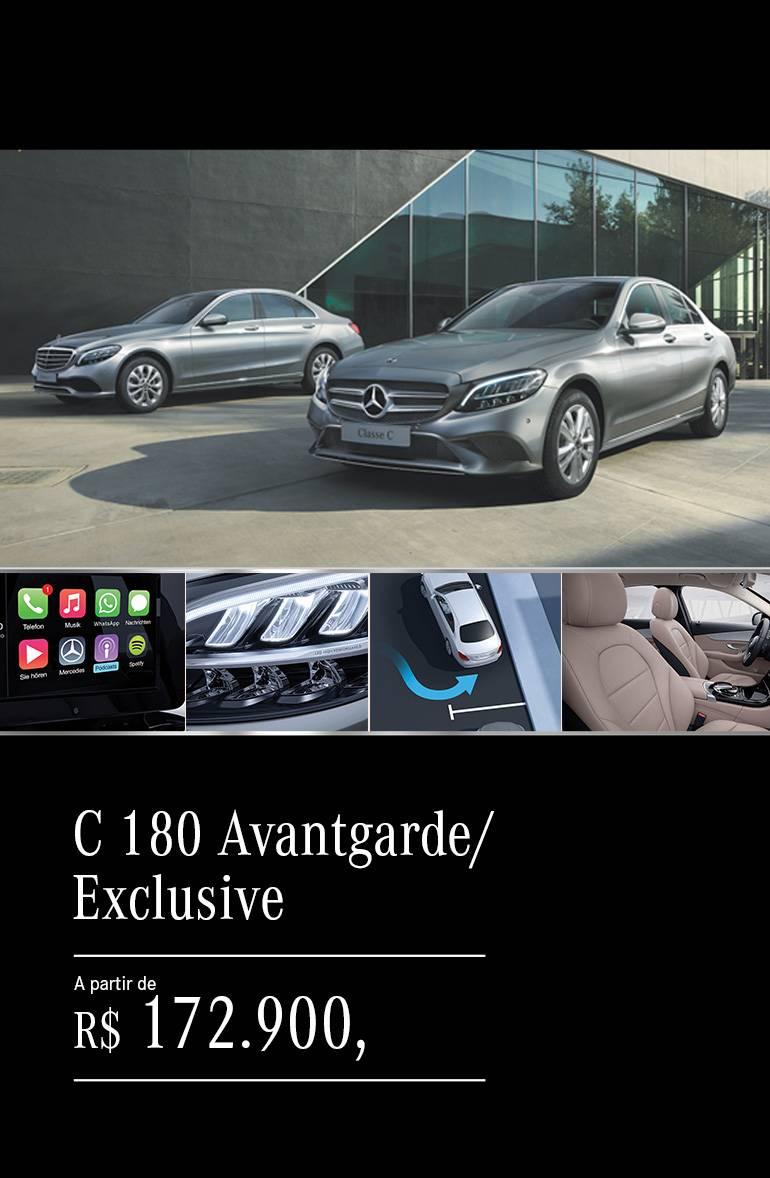 C 180 Avantgarde e Exclusive