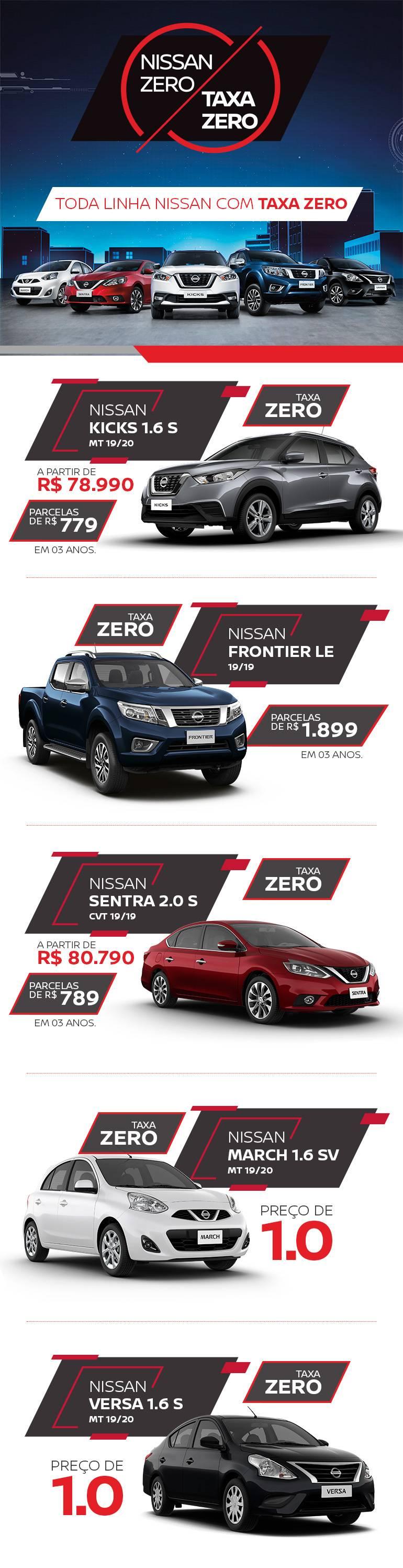 Nissan com Taxa Zero