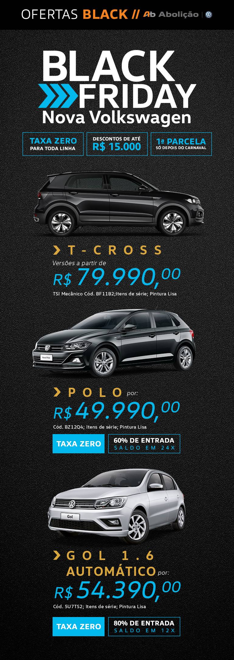 Black Friday - Nova Volkswagen