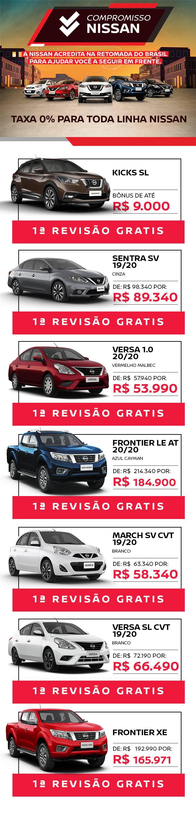 Oferta Nissan - Taxa Zero