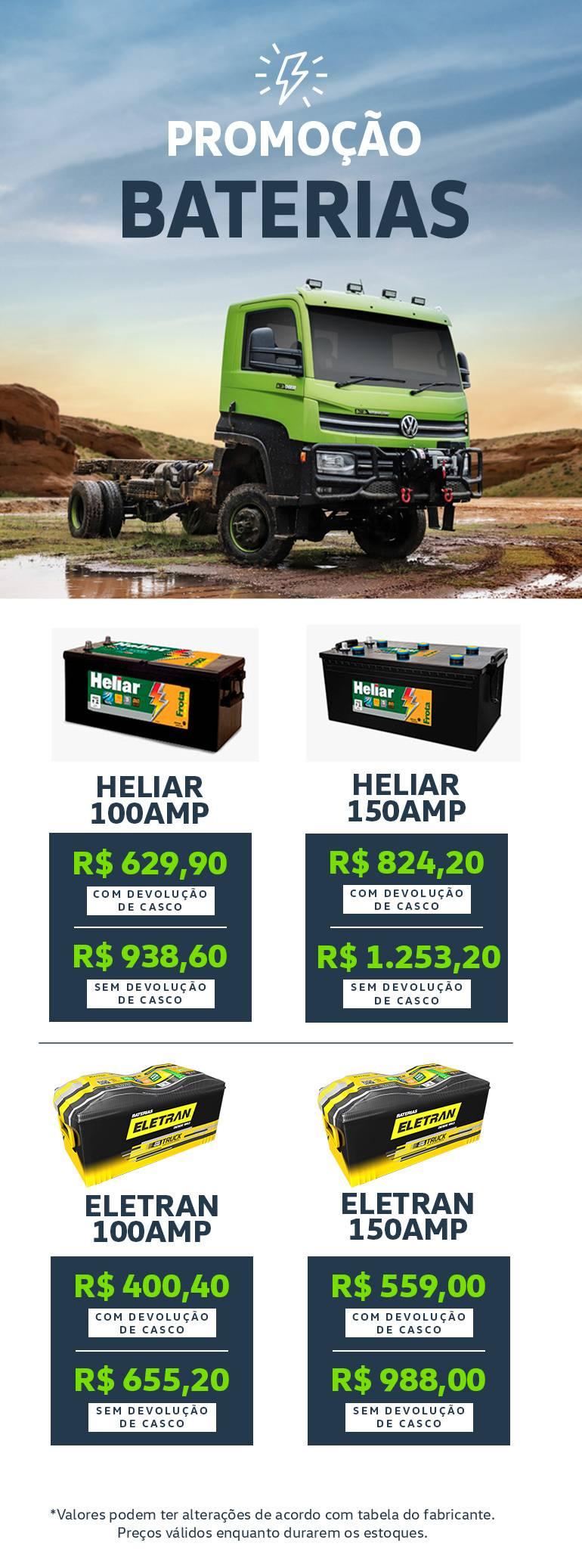 Baterias Caminhões